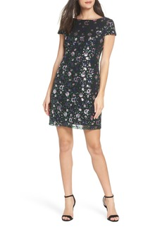 Sam Edelman Floral Sequin Sheath Dress