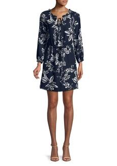 Sam Edelman Floral Splitneck Dress