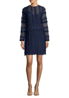 Sam Edelman Fringe-Trimmed Lace Dress