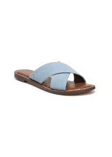 Sam Edelman Gertrude Cross Strap Slide Sandal (Women)