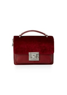 Sam Edelman Gessica Mixed-Media Satchel Bag