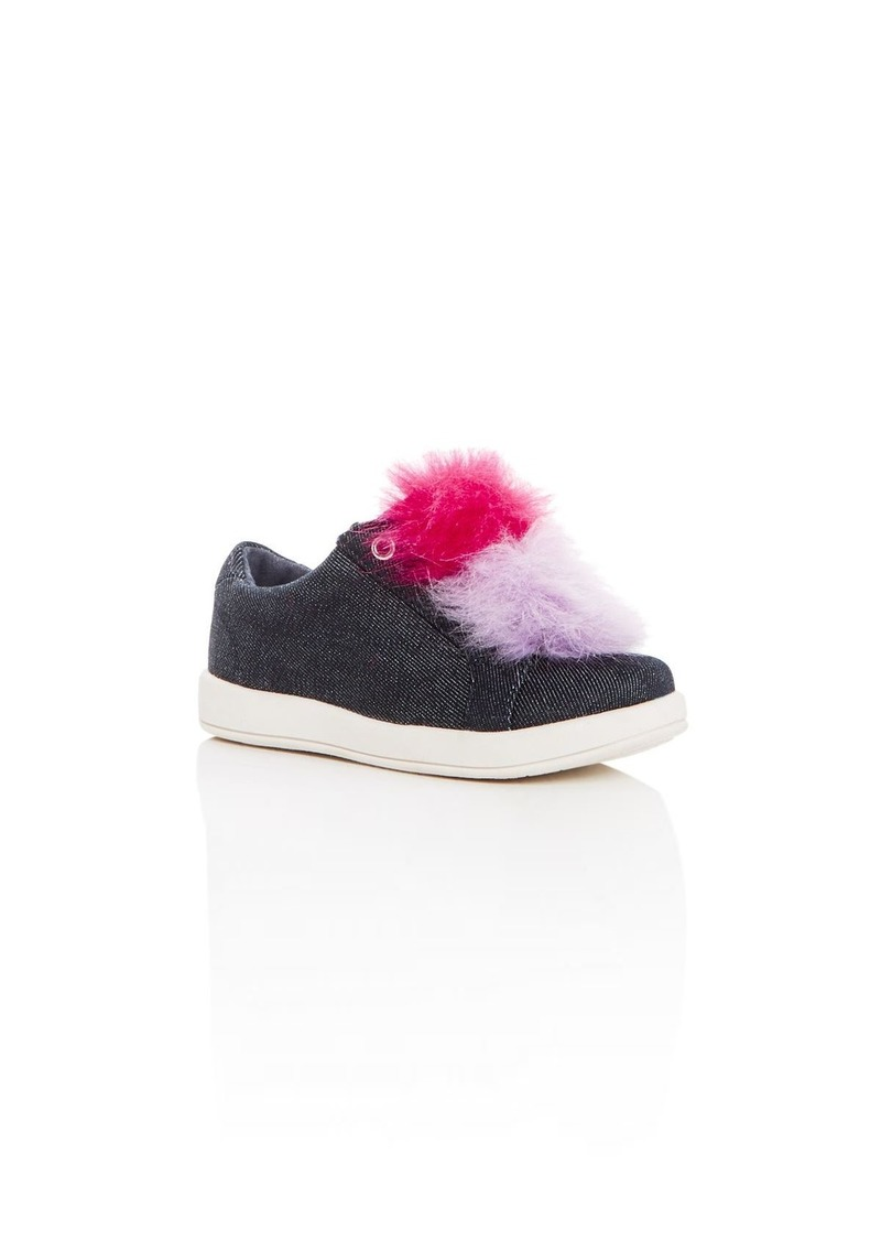 84a0bc6abb51a6 Sam Edelman Girls  Cynthia Leya Denim Pom-Pom Slip-On Sneakers - Walker