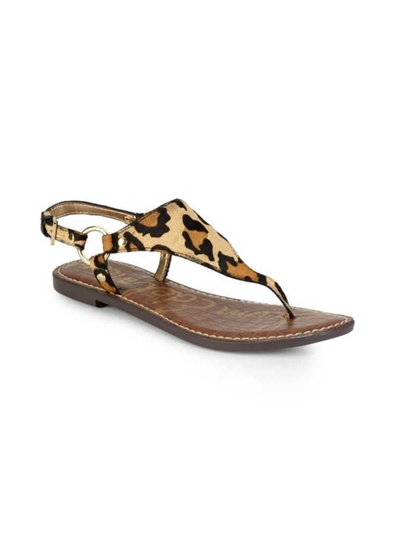 3145dd542a6b Sam Edelman Greta Leopard Thong Sandals Now  29.99