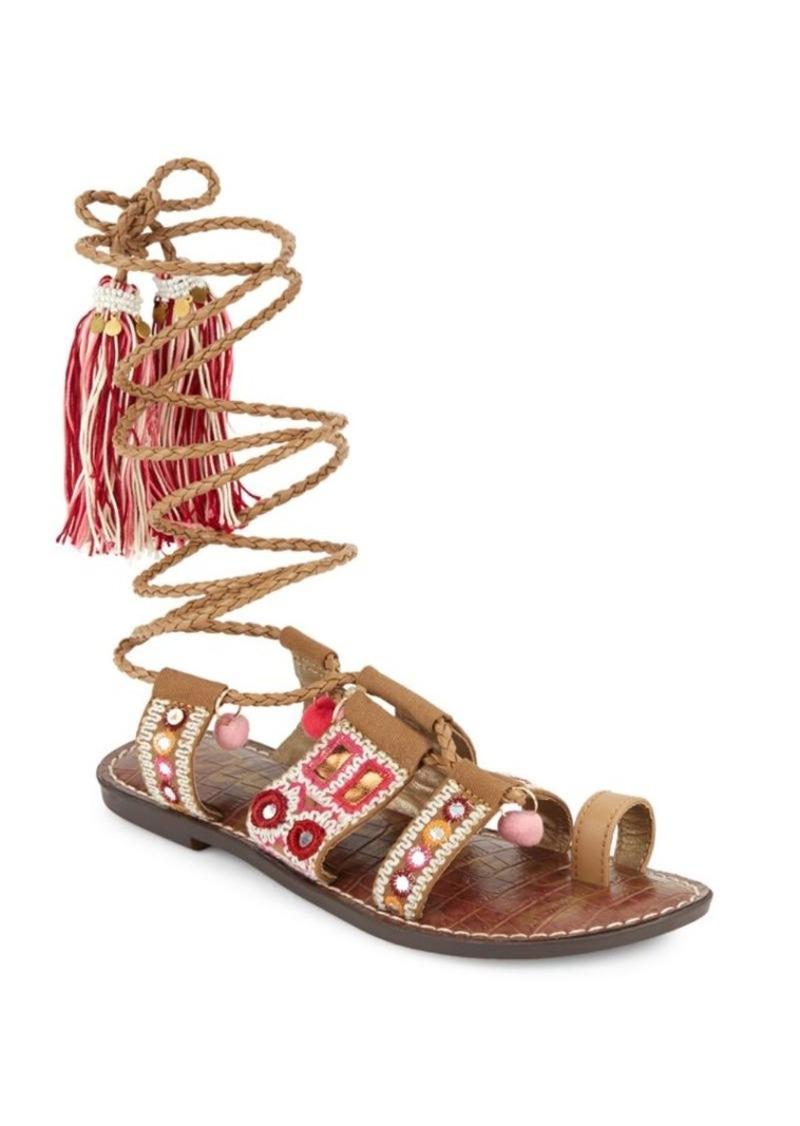 182f3ac0656 Sam Edelman Gretchen Leather-Blend Sandals