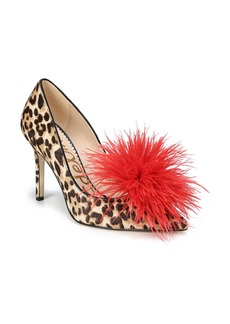 Sam Edelman Haide Feather Genuine Calf Hair Pompom Pump (Women)