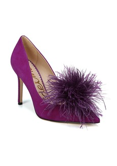Sam Edelman Haide Feather Pompom Pump (Women)
