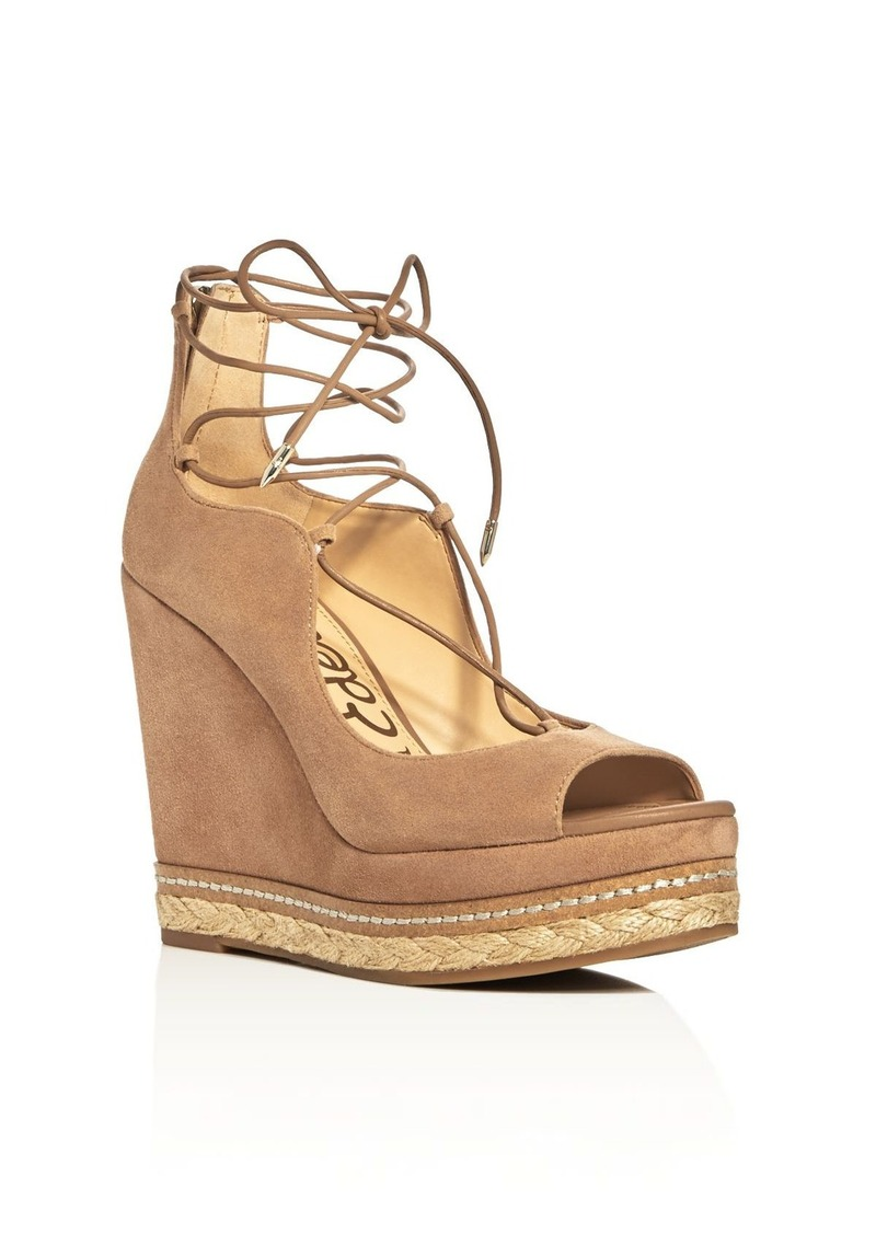 f840dda5c70ac7 Sam Edelman Sam Edelman Harriet Lace Up Wedge Sandals Now  62.72
