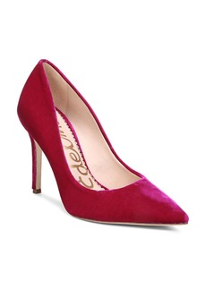 Sam Edelman Hazel Velvet Pointed Toe High Heel Pumps