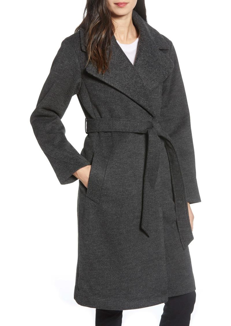 Sam Edelman Herringbone Wrap Coat