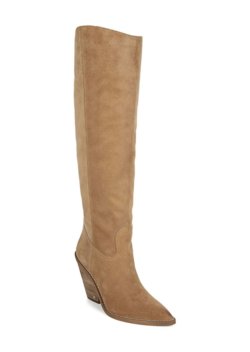 Sam Edelman Indigo Pointed Toe Knee High Boot (Women)