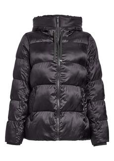 Sam Edelman Iridescent Water Repellent Hooded Puffer Jacket