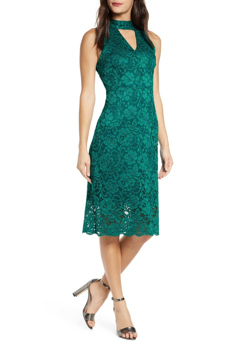 Sam Edelman Keyhole Lace Sheath Dress
