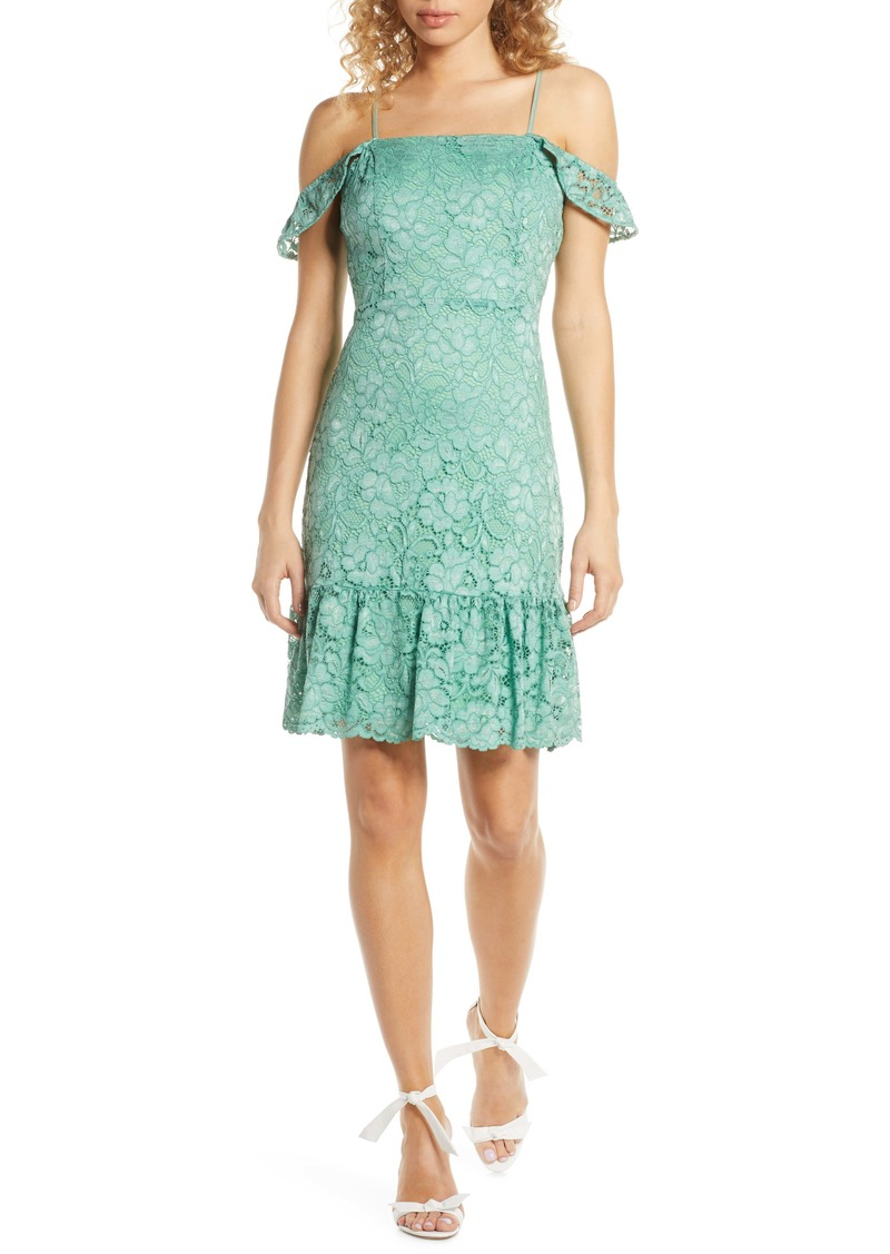 Sam Edelman Lace Cold Shoulder Sheath Dress