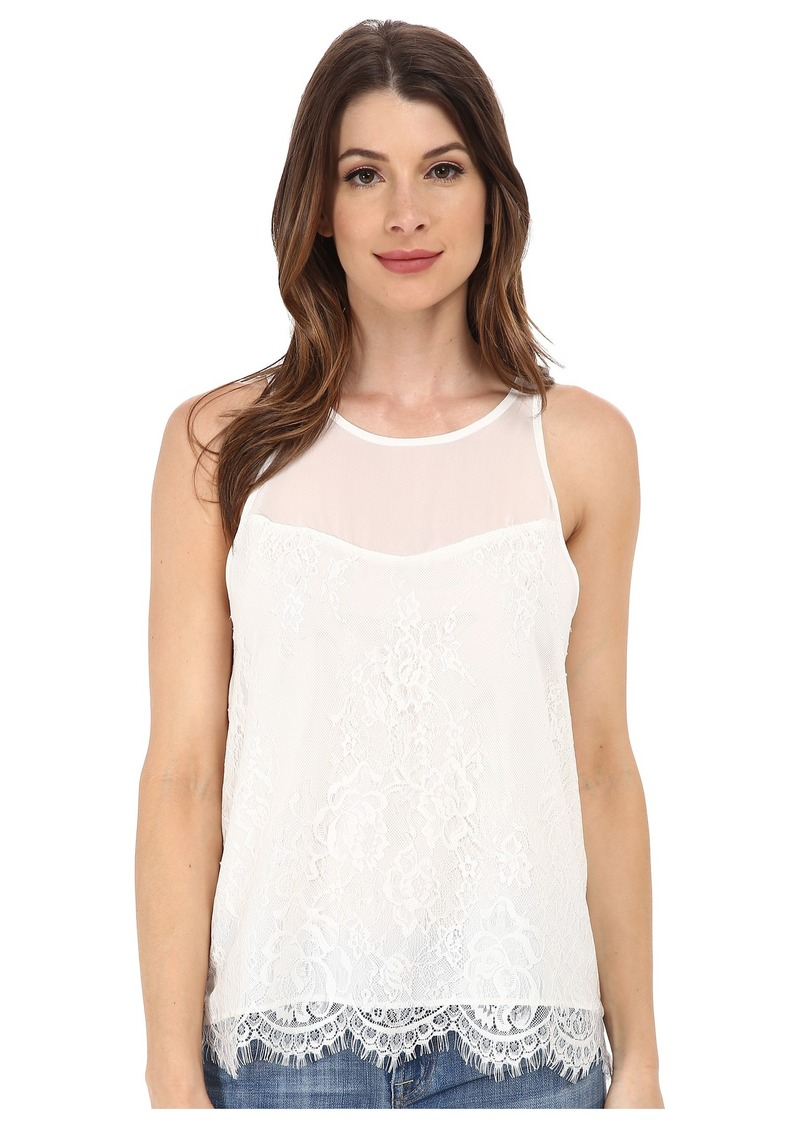 Sam Edelman Lace Zip Back Top