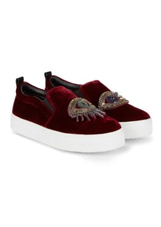 Sam Edelman Leila Velvet Eye Sneakers