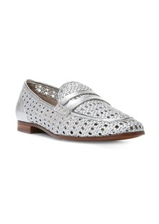 Sam Edelman Leora Round-Toe Woven Leather Loafers