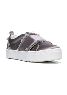 Sam Edelman Levine Frayed Satin Platform Slip-On Sneakers