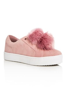 Sam Edelman Leya Faux Fur Pom-Pom Slip-On Sneakers