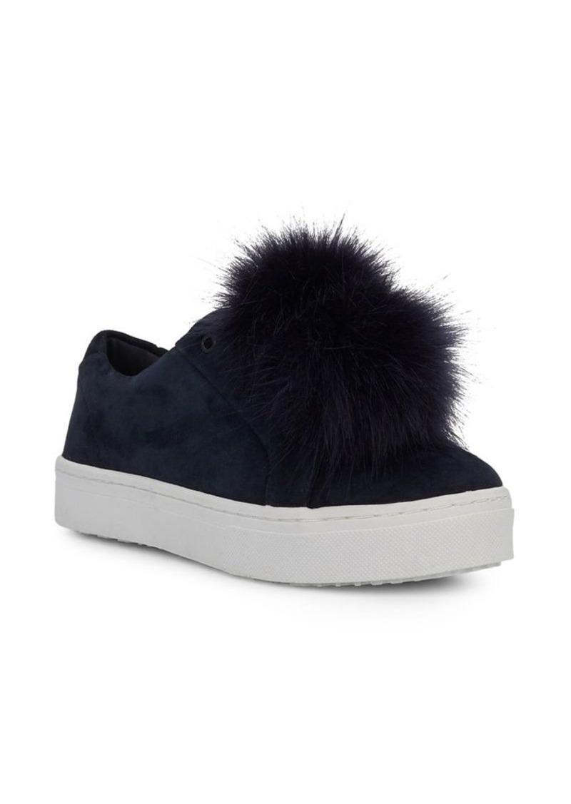 f5902cbb6cdf Sam Edelman Sam Edelman Leya Faux Fur Trim Suede Sneakers