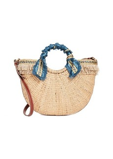 Sam Edelman Lianna Metallic Fringed Straw Tote