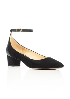 Sam Edelman Lola Ankle Strap Low Heel Pumps
