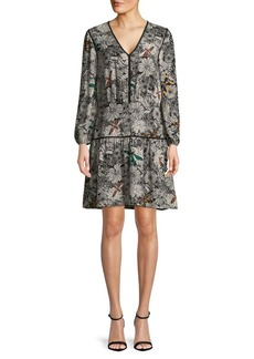 Sam Edelman Long-Sleeve Floral Dress