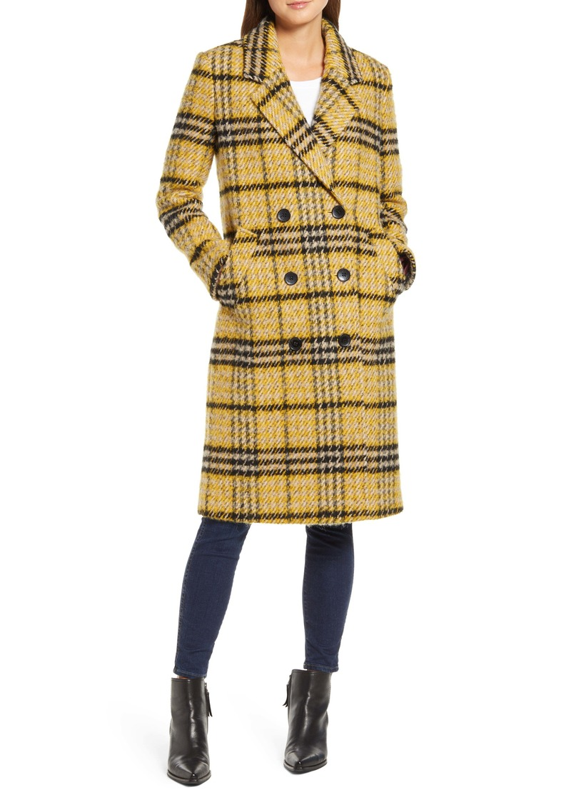Sam Edelman Longline Plaid Coat