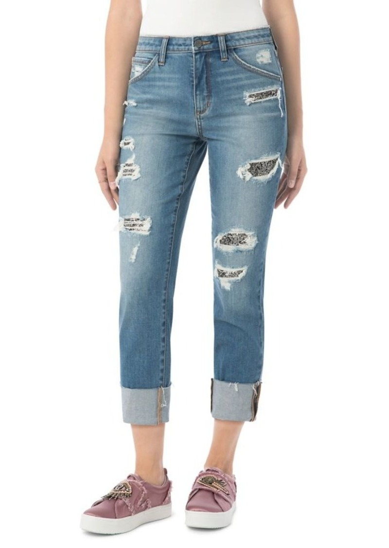 bbbd1d2b4 Sam Edelman Sam Edelman Mary Jane Sequined Ripped Jeans Now  25.60