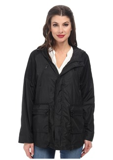 Sam Edelman Mesh Trimmed Active Rain Jacket