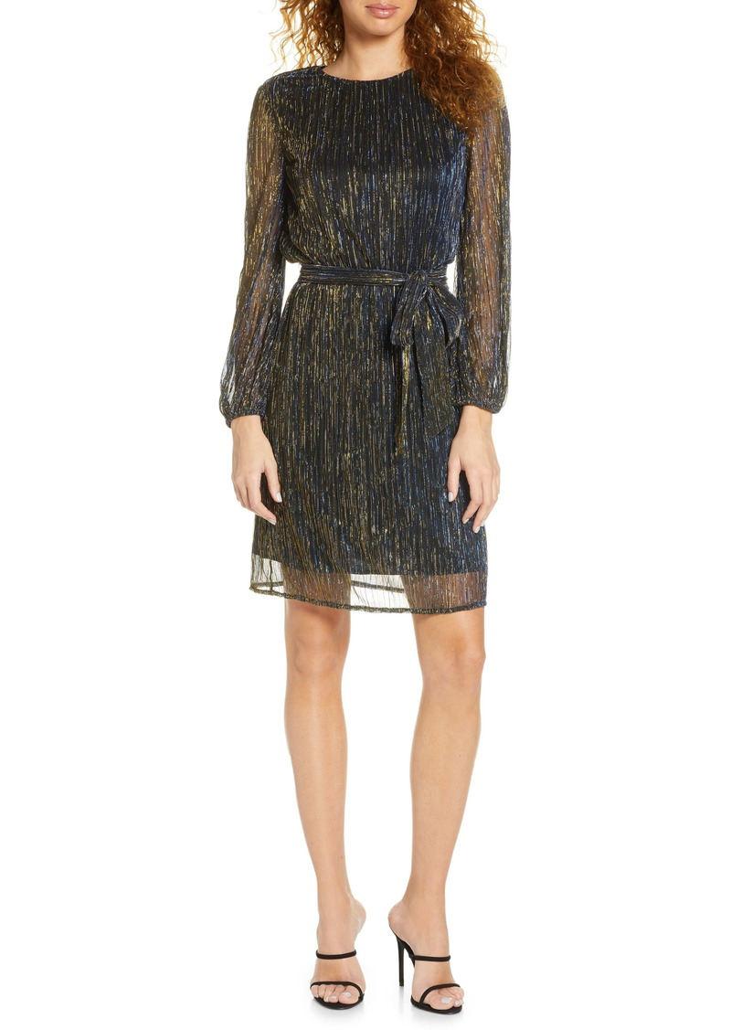 Sam Edelman Metallic Long Sleeve Dress