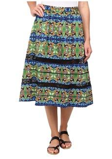 Sam Edelman Midi Skirt w/ Lace Trim