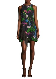 Sam Edelman Mixed Media Side Drape Dress