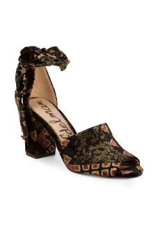 Sam Edelman Odele Floral Ankle-Tie Sandals