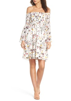 Sam Edelman Off the Shoulder Babydoll Dress