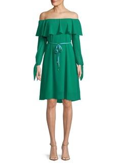 Sam Edelman Off-the-Shoulder Fit-&-Flare Dress