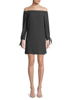 Sam Edelman Off-The-Shoulder Polka Dots Dress