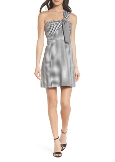 Sam Edelman One-Shoulder Gingham Dress