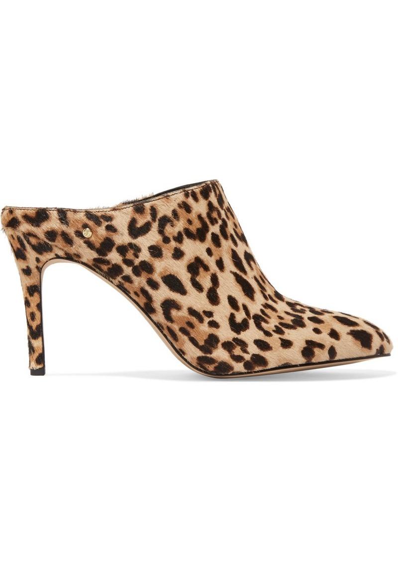 fb040f178eda1f Sam Edelman Oran leopard-print calf hair mules