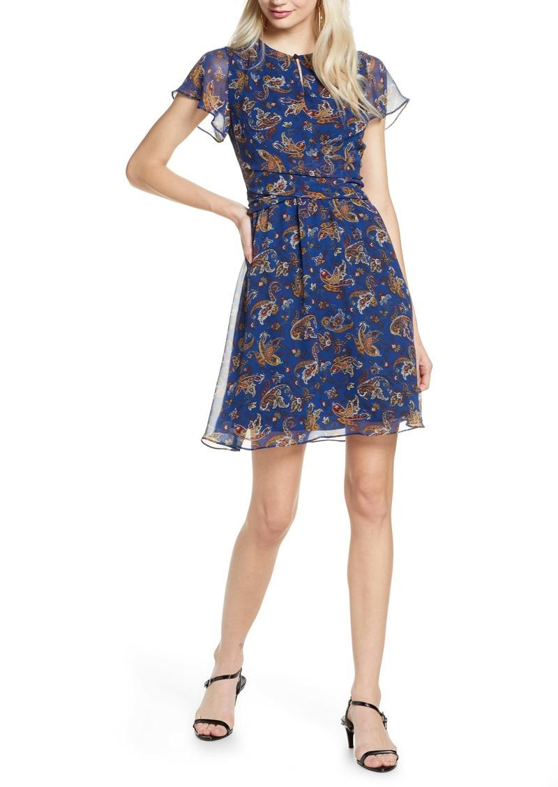 Sam Edelman Paisley Chiffon Minidress