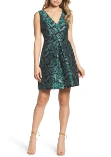 Sam Edelman Palm Jacquard A-Line Dress