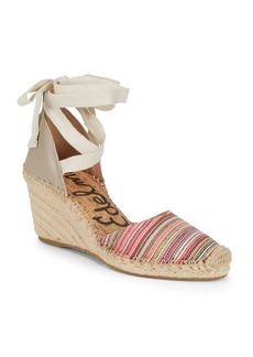 Sam Edelman Patsy Striped Espadrille Wedge Heels