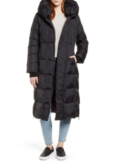 Sam Edelman Pillow Collar Quilted Down Long Coat