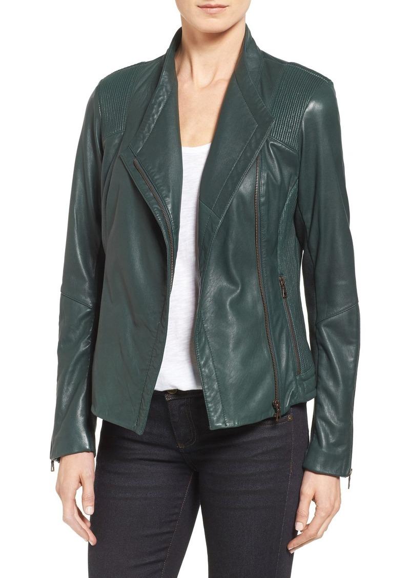 Sam Edelman Pintucked Leather Jacket