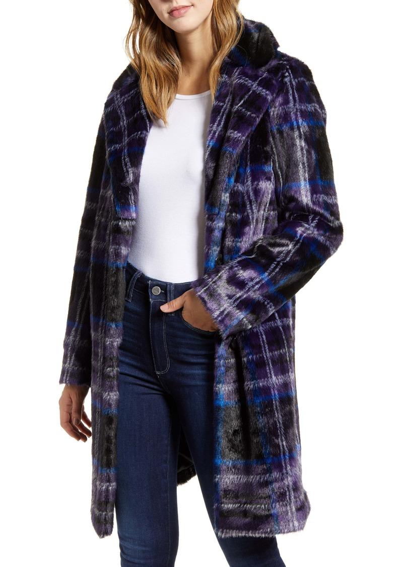 Sam Edelman Plaid Faux Fur Jacket