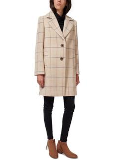 Sam Edelman Plaid Single-Breasted Walker Coat, Created for Macy's