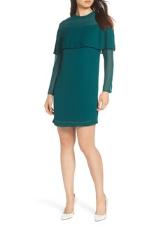 Sam Edelman Pleated Overlay Shift Dress