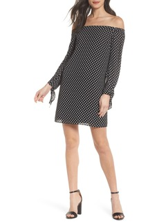 Sam Edelman Polka Dot Off the Shoulder Minidress