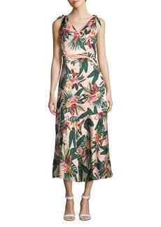 Sam Edelman Printed Self-Tie Dress