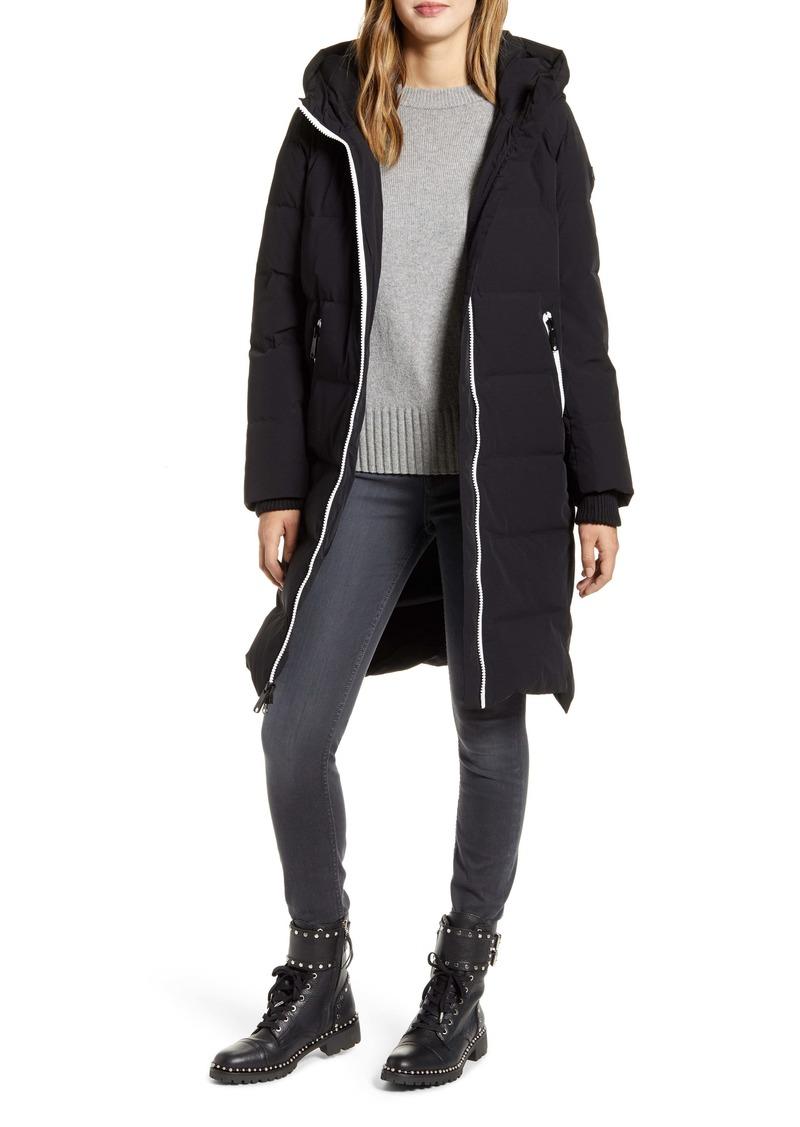 Sam Edelman Quilted Contrast Zip Coat