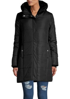 Sam Edelman Quilted Hooded Jacket